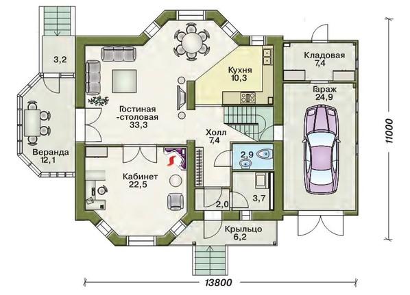 Дом своими руками из пеноблоков план 97